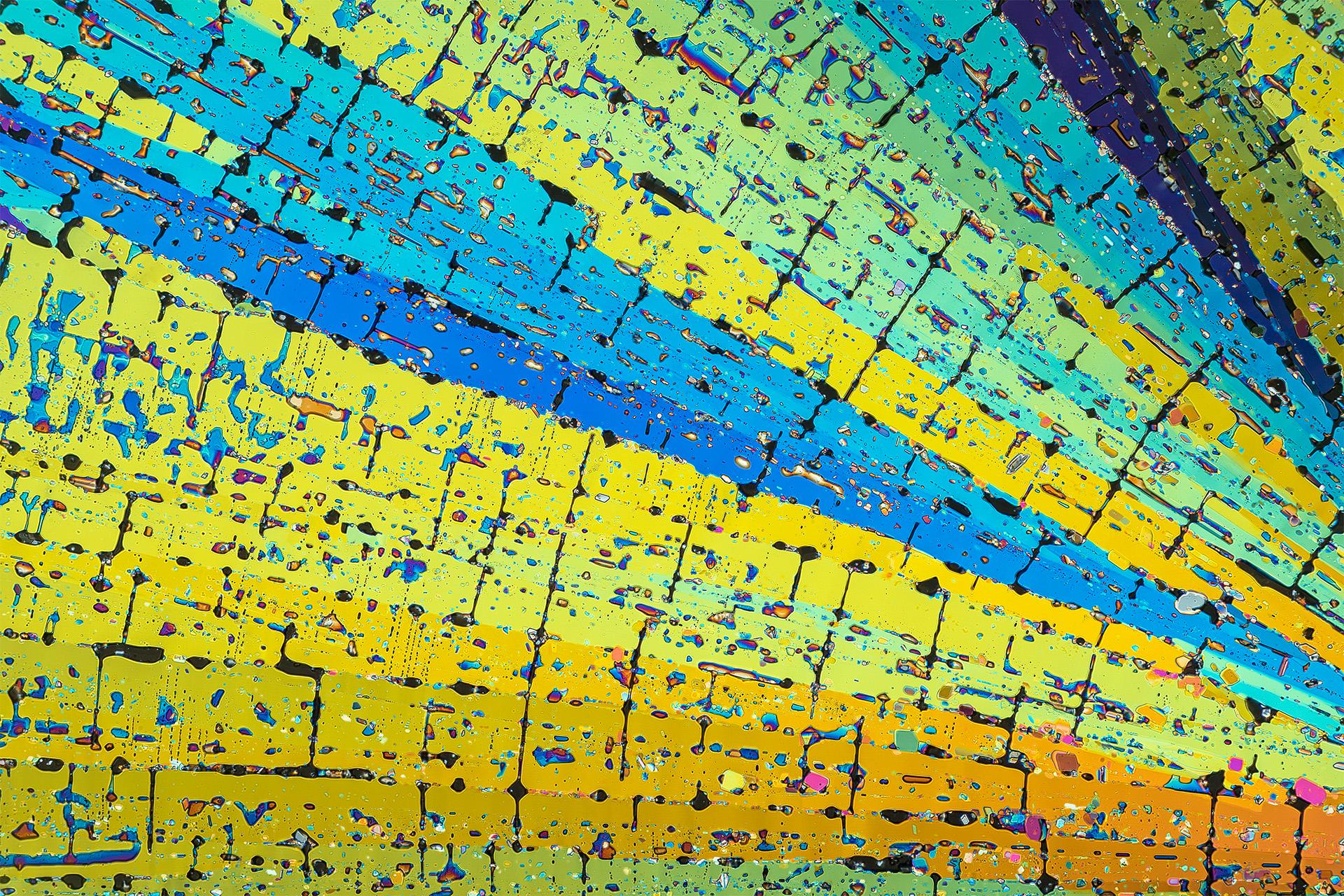 Oxalsäure in einer Vergrößerung von 250:1, Mikro Kristall im polarisierten Licht.